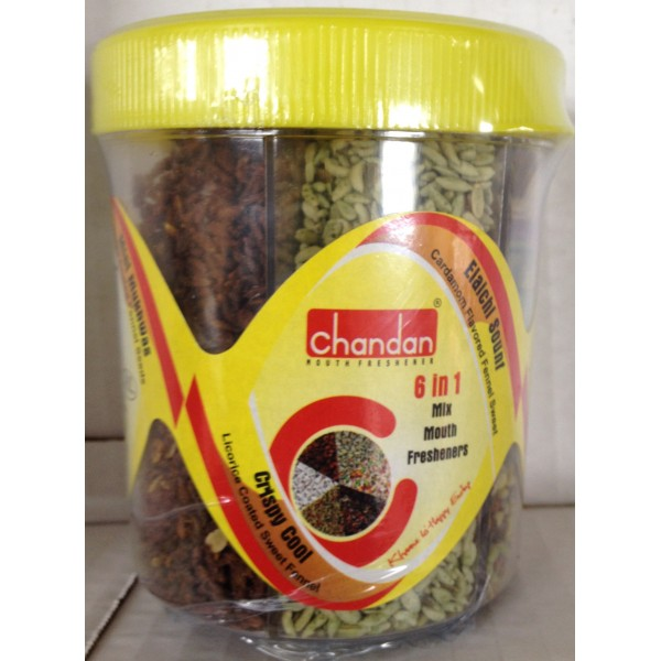 Chandan 6 in 1 mix mouth freshers 8.8 Oz / 249 Gms