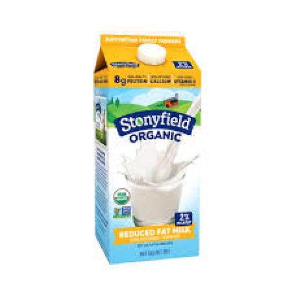 Stonyfield Organic Reduced Fat Free Milk 2% 1/2 Gallon