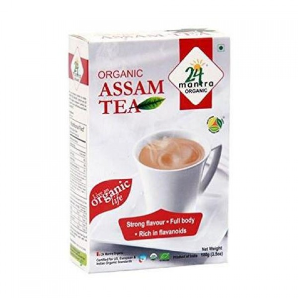 24 Mantra Organic Assam Tea 1.75 oz / 50 Gms 25 Tea Bags