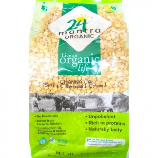 24 Mantra Organic Chana Dal 4 Lb / 1.8 Kg