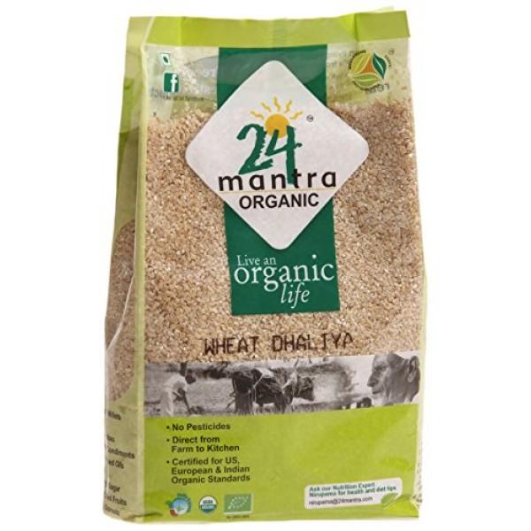 24 Mantra Organic Wheat Dhaliya 2 Lb / 908 Gms