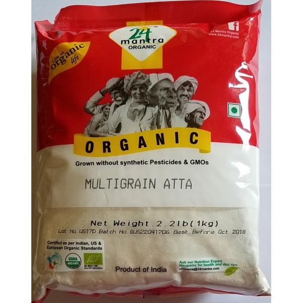 24 Mantra Organic Multi Grain Atta 2.2 Lb