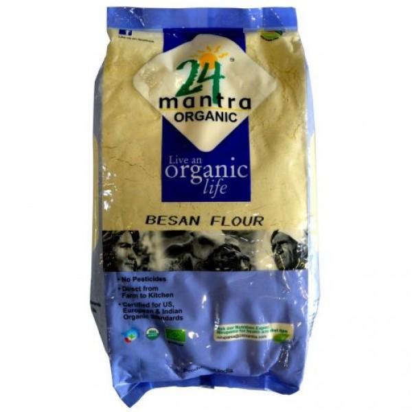 24 Mantra Organic Besan 2 Lb / 908 Gms