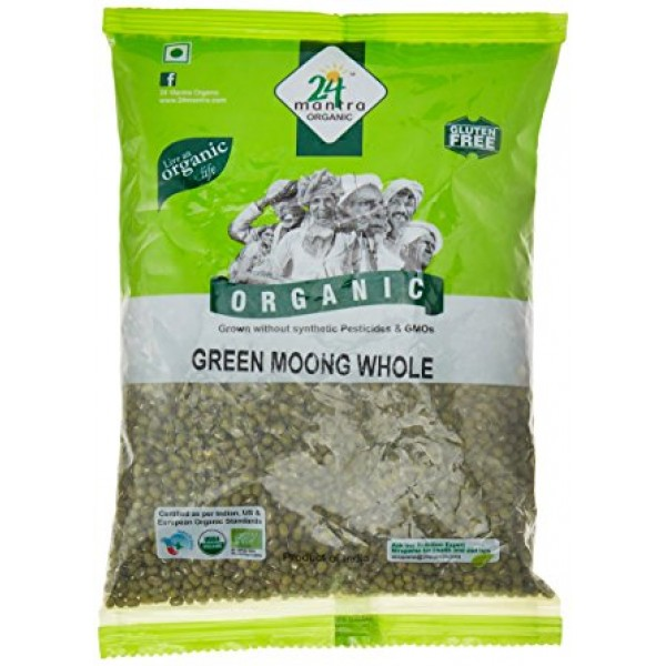 24 Mantra Organic Green Moong 2 Lb / 908 Gms