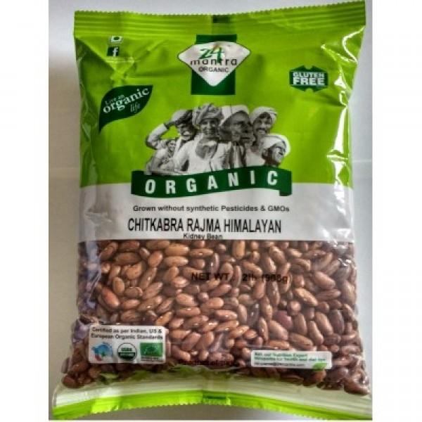 24 Mantra Organic Rajma 2 Lb / 908 Gms