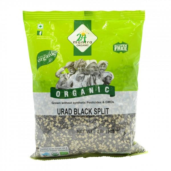 24 Mantra Organic Urad Black Split 2 Lb / 908 Gms