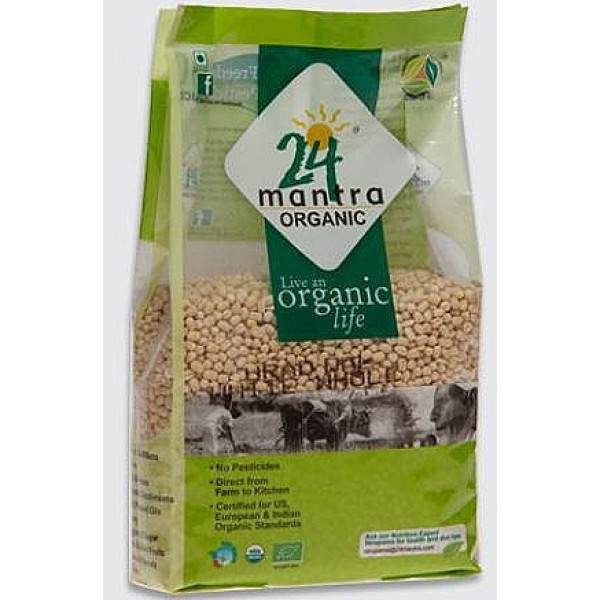24 Mantra Organic Urad White Whole 2 Lb / 908 Gms
