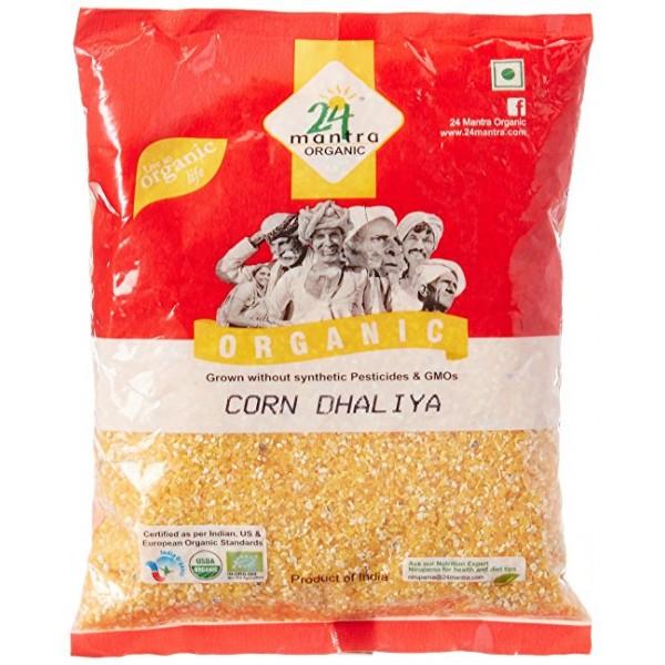 24 Mantra Organic Corn Dhaliya 2 Lb / 908 Gms