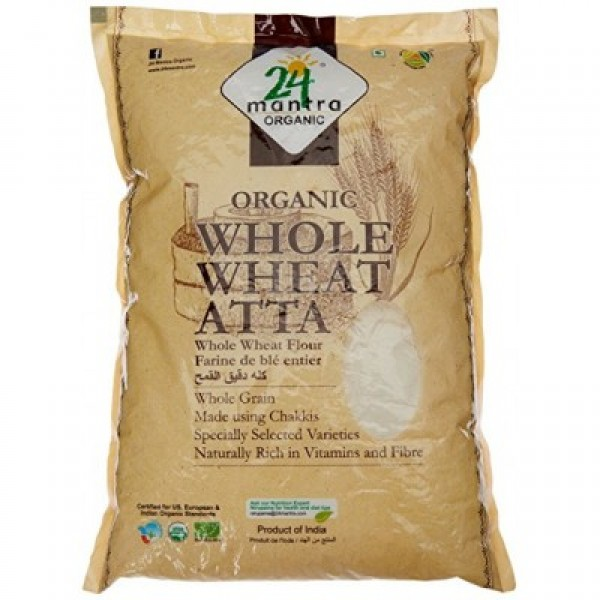 24 Mantra Organic Whole Wheat Atta 20lb
