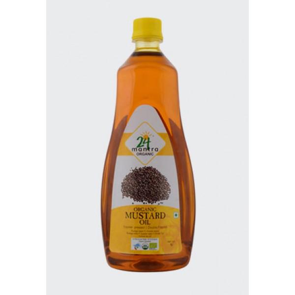 24 Mantra Organic Mustard Oil 33.1 Oz / 1000 ml