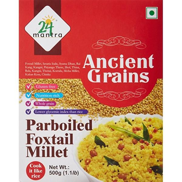 24 Mantra Ancient Grains Parboiled Foxtail Millet 17.63 Oz / 500 Gms