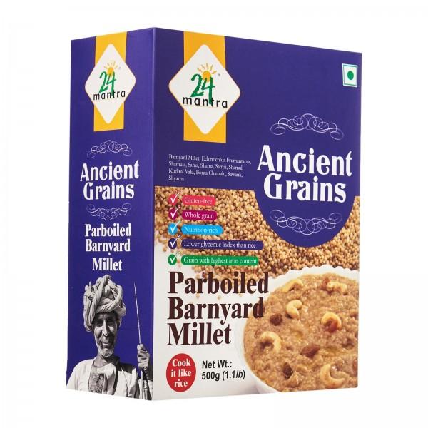 24 Mantra Ancient Grains Paraboiled Barnyard Millet 17.63 Oz / 500 Gms
