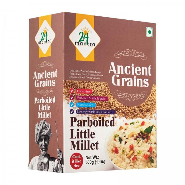 24 Mantra Ancient Grains Parboiled Little Millet 17.63 Oz / 500 Gms