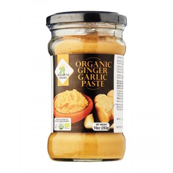 24 Mantra Organic Ginger Garlic Paste 10 Oz / 283 Gms
