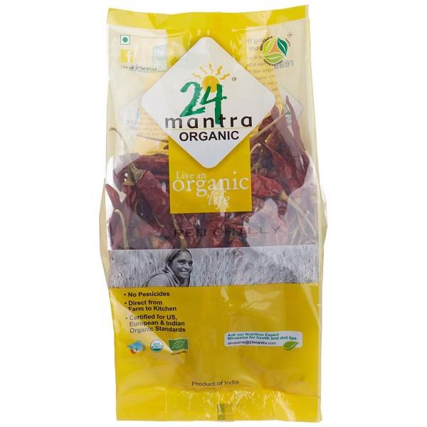 24 Mantra Organic Red Stick Chilli Whole 7 Oz / 200 Gms