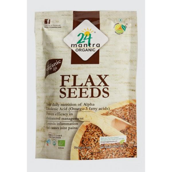 24 Mantra Organic Flax Seed 7 Oz / 200 Gms