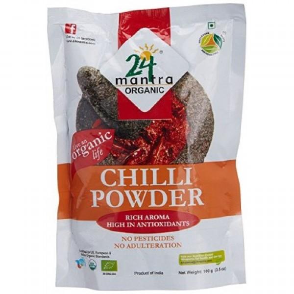 24 Mantra Organic Kashmiri Chilli Powder 7 Oz / 200 Gms