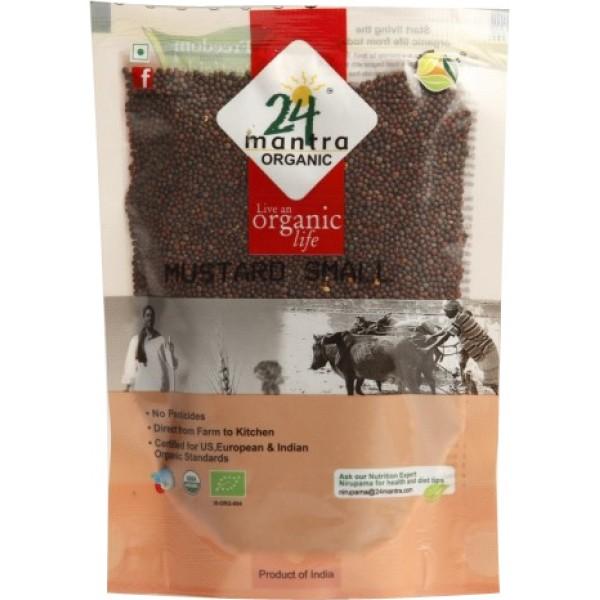 24 Mantra Organic Mustard Seed 7 oz / 200 Gms