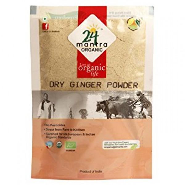 24 Mantra Organic Dry Ginger Powder 7 Oz / 200 Gms