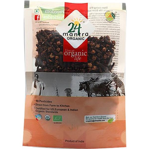24 Mantra Organic Whole Clove 3.5 Oz / 100 Gms