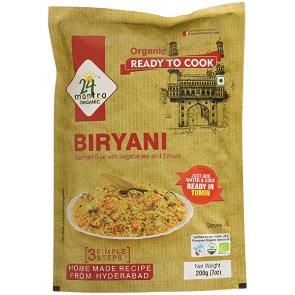 24 Mantra Organic Biryani Mix 7 oz / 200 Gms