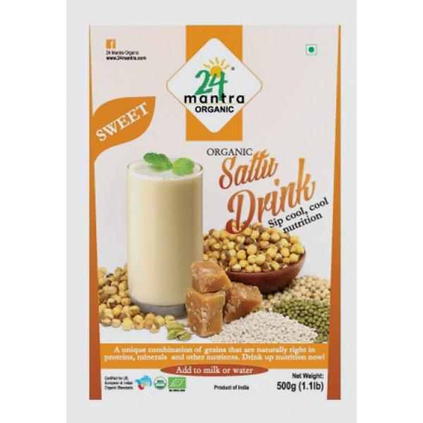 24 Mantra Organic Sweet Sattu Mix 1.1 Lb / 500 Gms