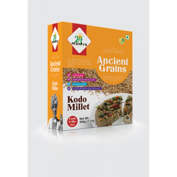 24 Mantra Organic Kodo Millet 1.1 Lb / 500 Gms