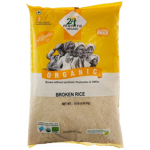 24 Mantra Organic Broken Rice 10 LB / 4.54 KG