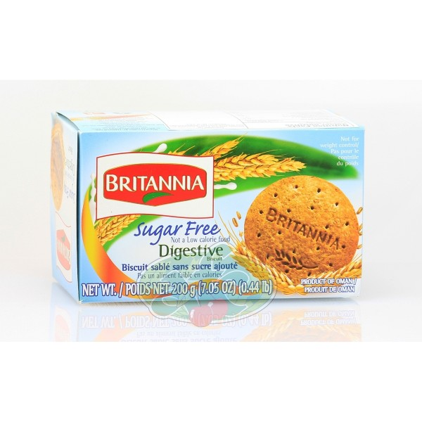 Britannia Sugarfree Digestive Biscuits 7.05 OZ / 200 Gms