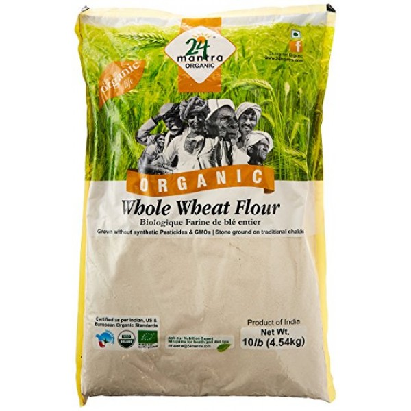 24 Mantra Organic Whole Wheat Flour 10 LB / 4.54 KG